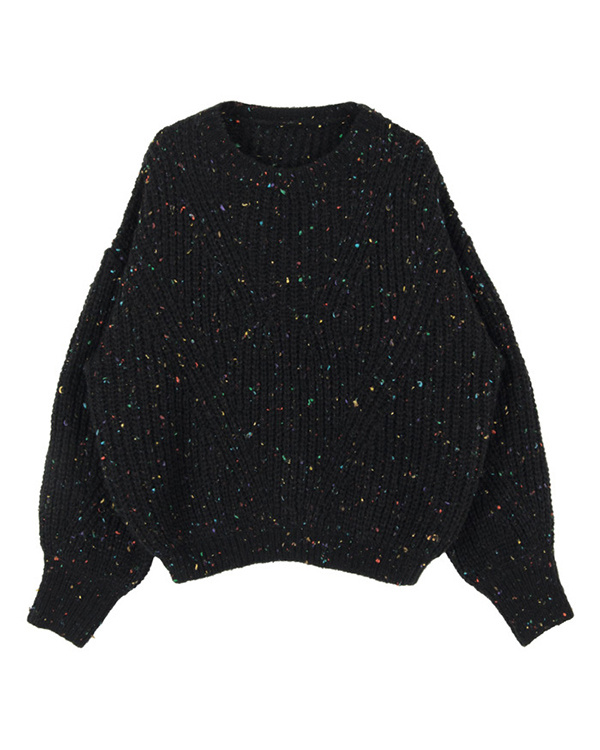 titivate / black colorful yarn knit pullover ○ AQXP1675 / Women's