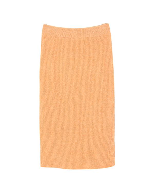 再找補一下/淺橙色中等長度的針織緊身裙○AQXP1707 /女裝