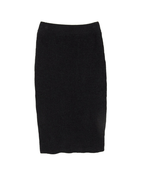 titivate / black medium-length knit tight skirt ○ AQXP1707 / Women's
