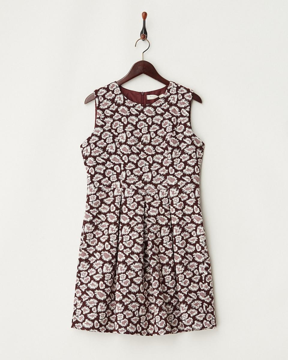 假日陽光/紅色豹紋連身裙○OP0320 /女裝