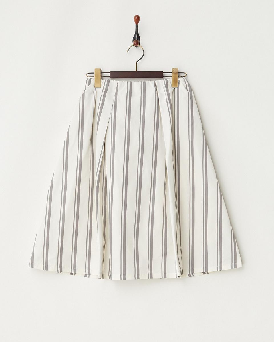 LucyPearl / ホワイト ストライプスカート / ウィメンズ