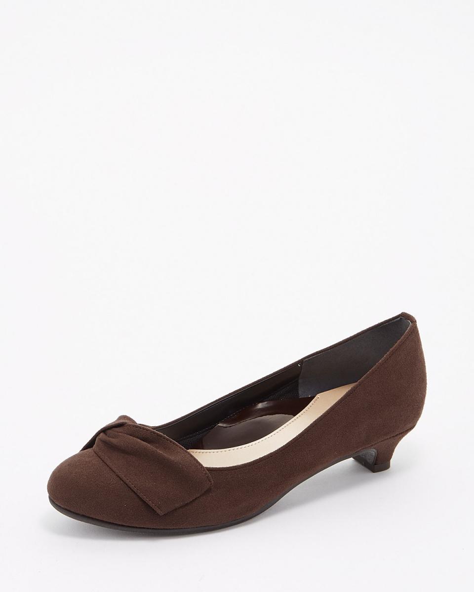 Verikoko (velikoko) / dark brown suede dark brown suede twist pumps