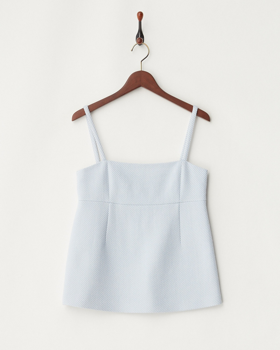 TML COLLECTION O / Blue wool twill camisole pullover / Women's