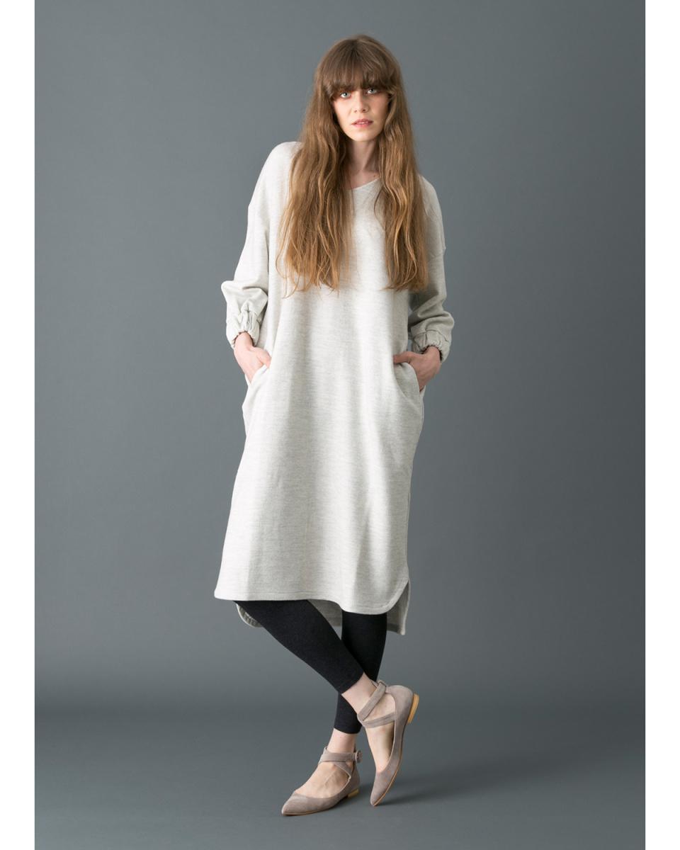 KAMILi /灰色天鹅绒材料表带泵/女装