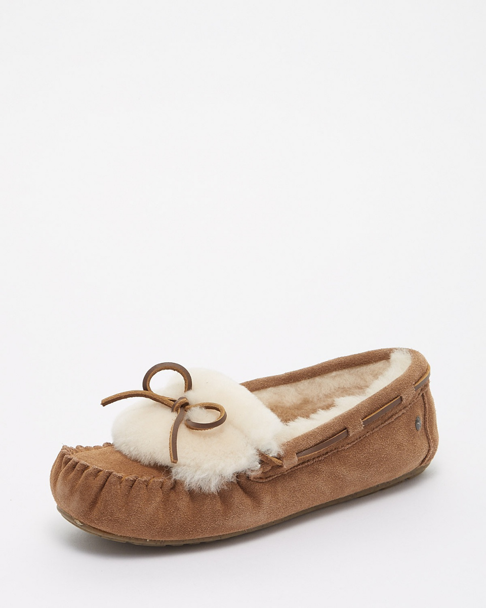 EMU / CHESTNUT AMITY CUFF moccasin shoes