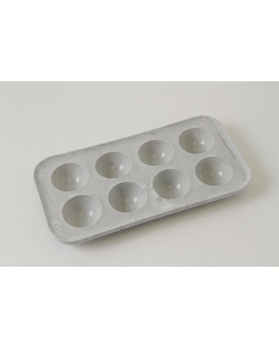 Metorefuranse /灰色大理石8大圓頂冰盤