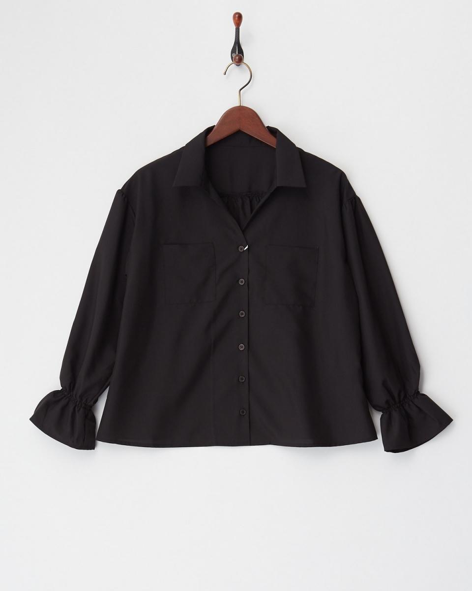 Twenty Three / Black skipper color blouse ○ 341-50360 / Women's