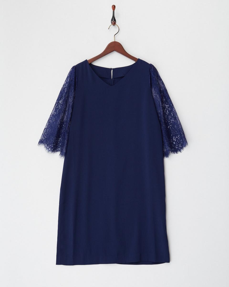 Twenty Three / navy lace sleeve dress ○ 341-50365 / Women's