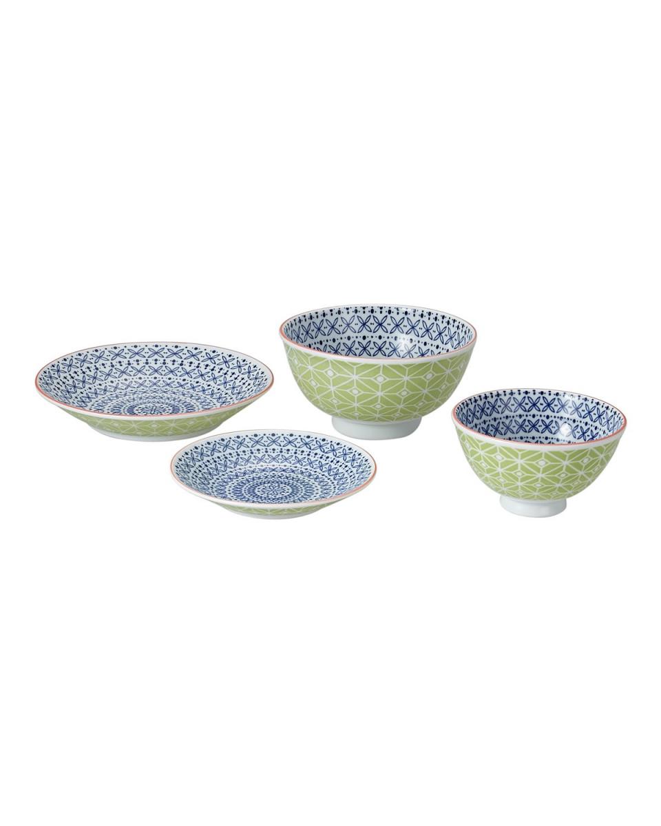 MaruToshi Yushu interest Kizo shop / Komoguramu Flower line set (bowl / small bowl / small plate / Tosara)