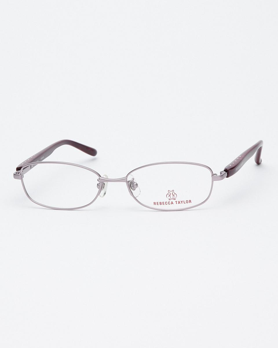 丽贝卡泰勒/紫色椭圆形金属框架眼镜|女性