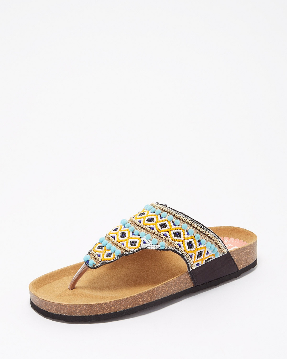 Desigual / 2000Tajimahal Beads sandals ○ 72HSWC7 / Women's