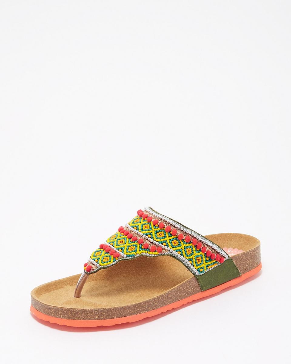 Desigual / 4130Tajimahal珠涼鞋○72HSWC7 /女裝
