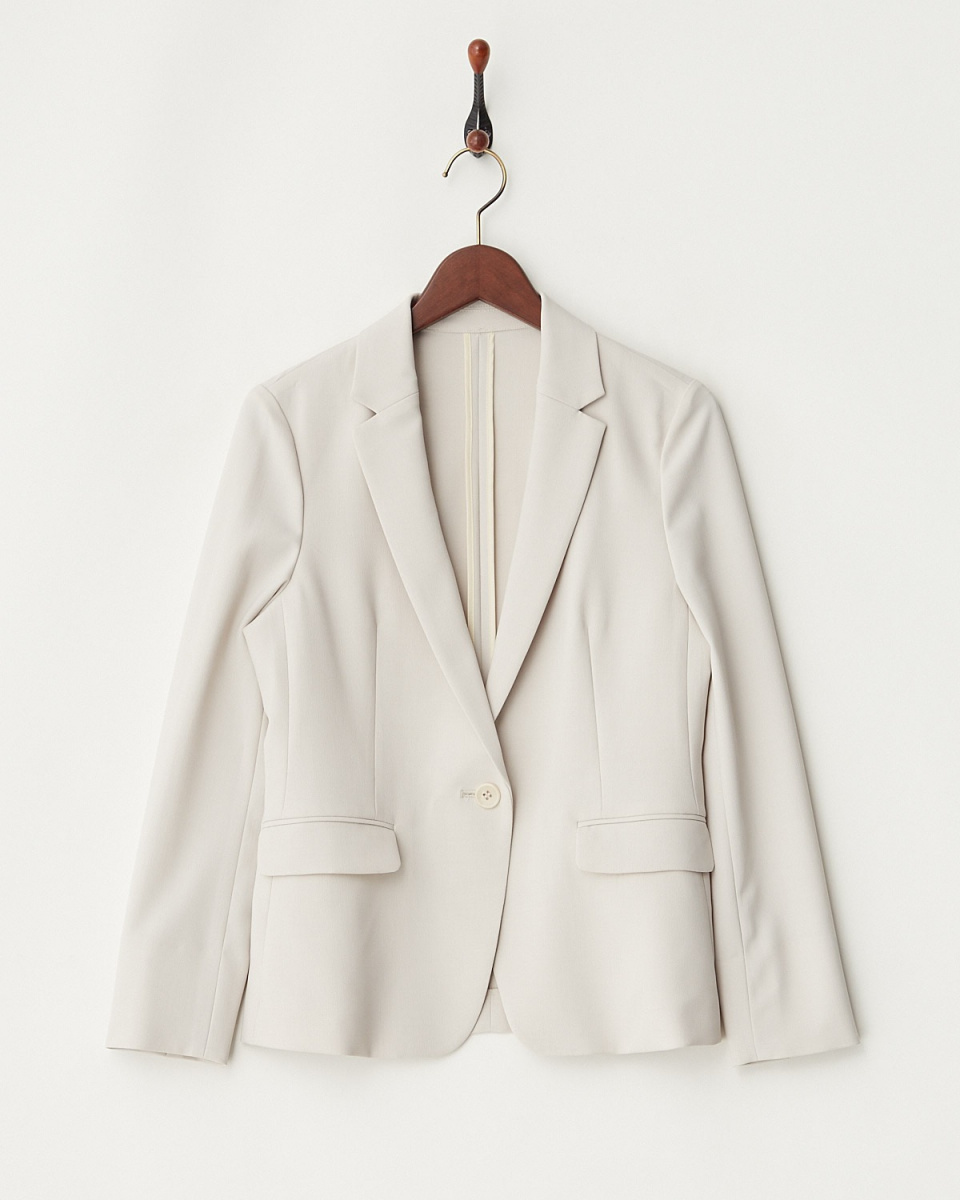 White Joe La / beige mock twist Taylor jacket
