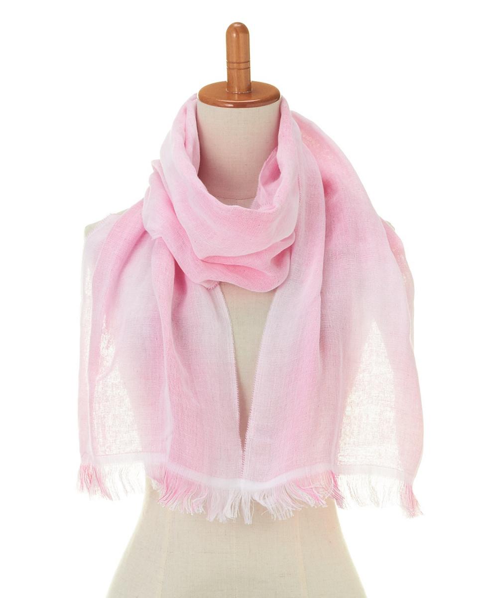 義昌/粉紅色純棉紗布三層組織的梯度攤位