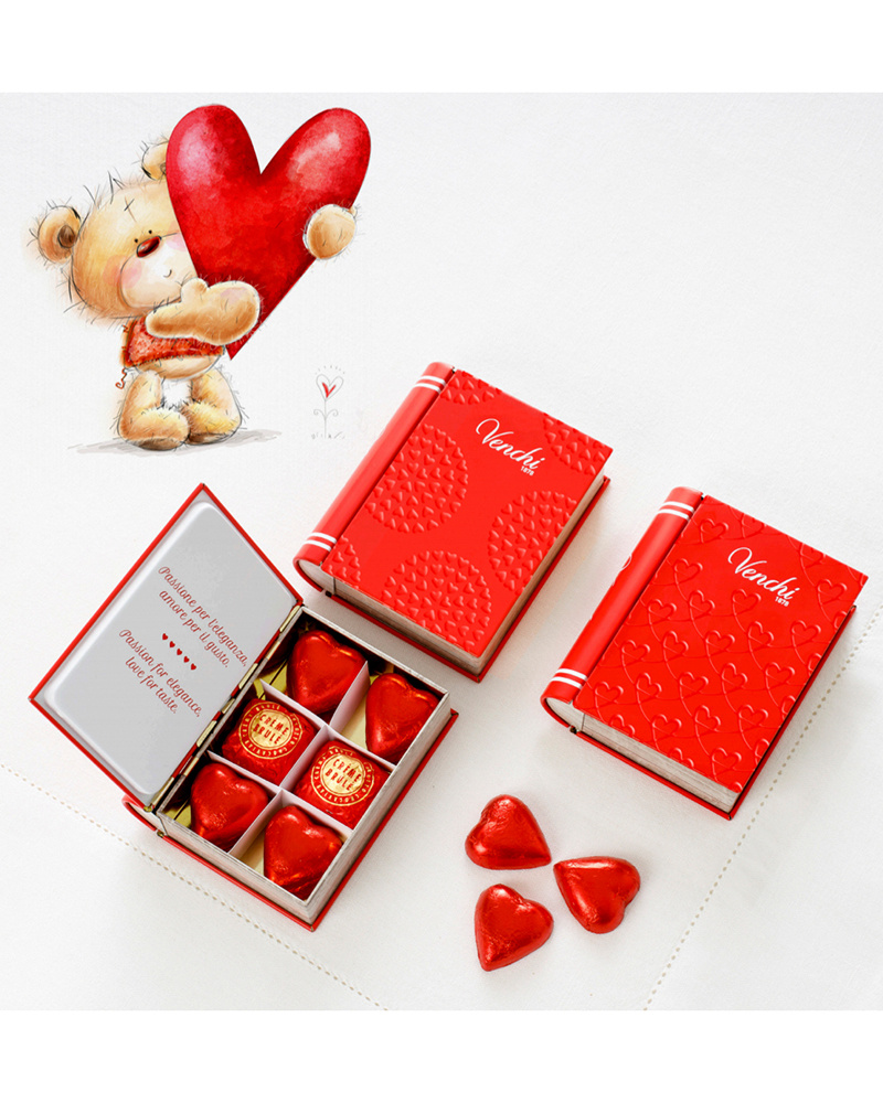 venchi / ヴェンチブック缶バレンタインアソート○8002996130565