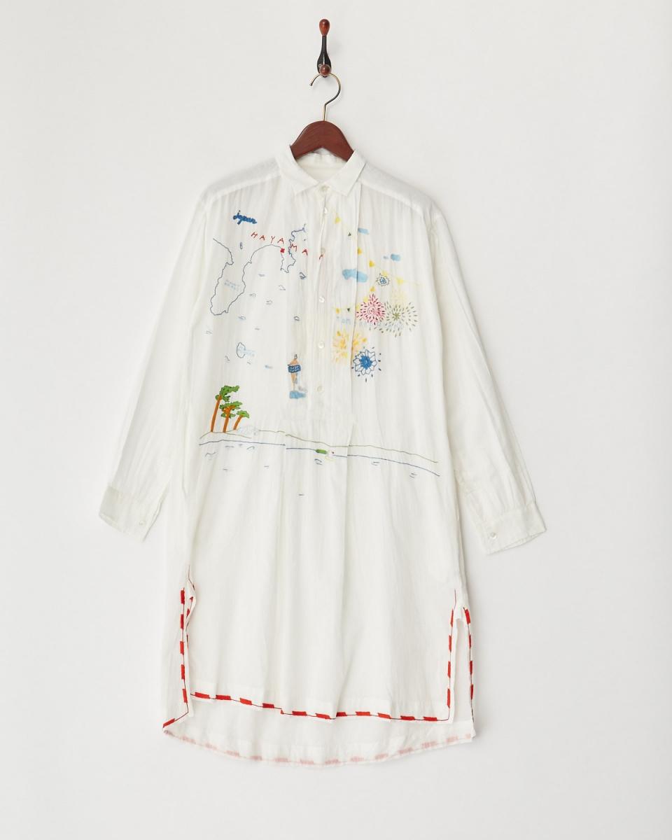/ White-based white Hayama dress ○ 32066106221 / Women's