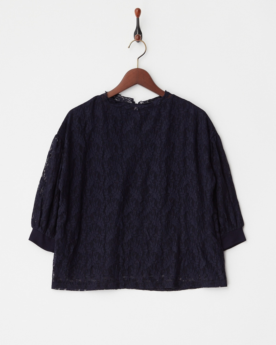 LucyPearl / navy lace blouse / Women's