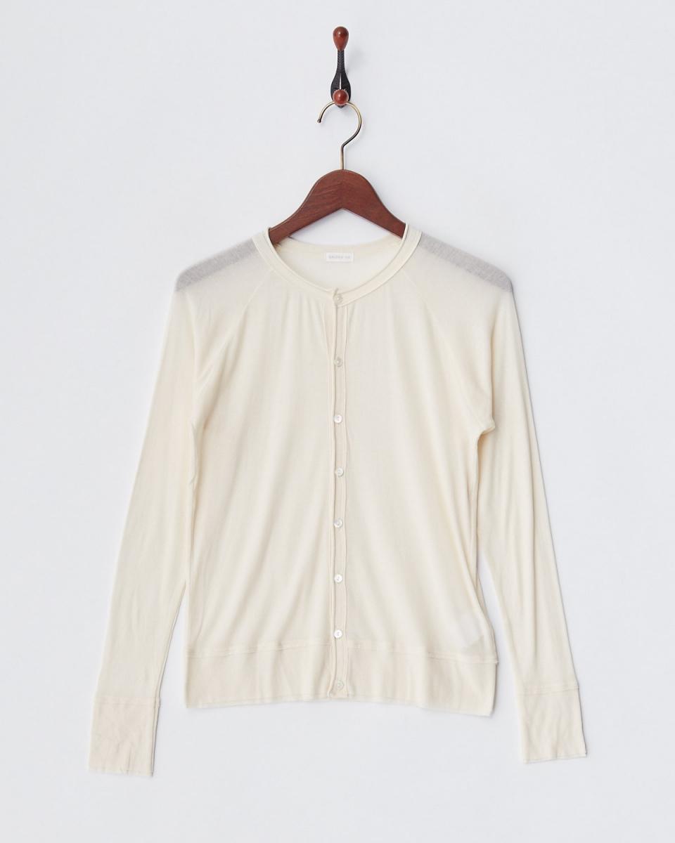 GALERIE VIE / light beige gauze crew neck C / D ○ 23037203302 / Women's