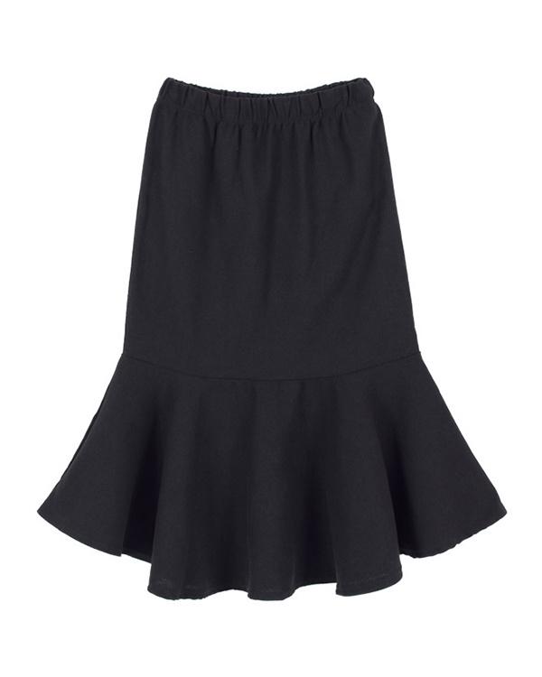 titivate / black cotton skirt flared skirt ○ AQWN0025 / Women's