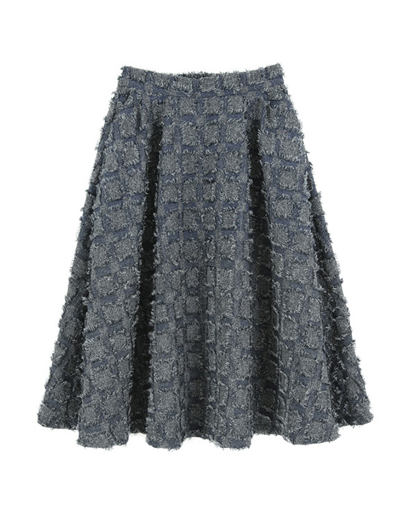 再找補一下/藍質量條紋喇叭裙○ARJN0005 /女裝