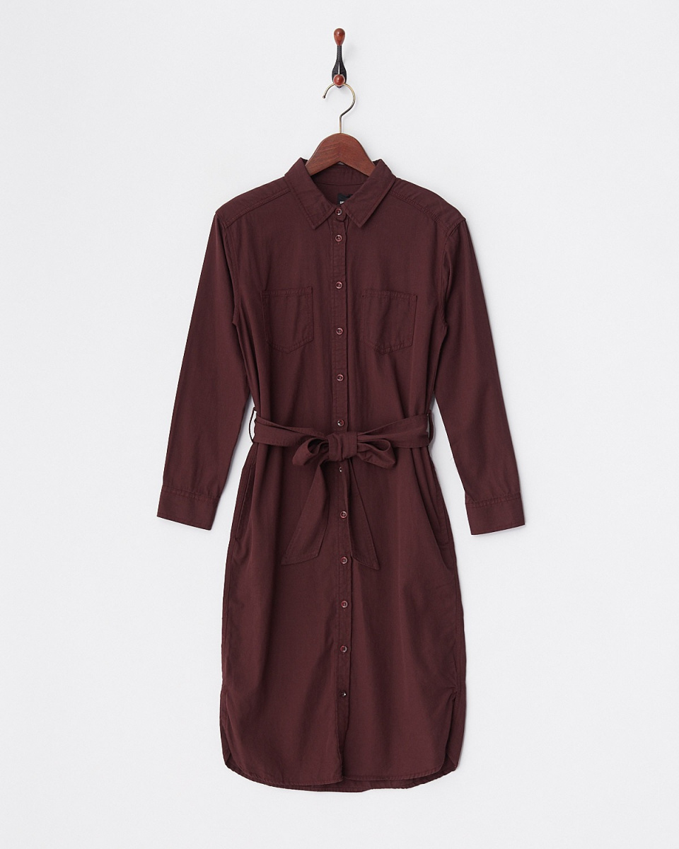 DRWCYS / Brown ribbon with a shirt dress ○ 73121018 / Women's
