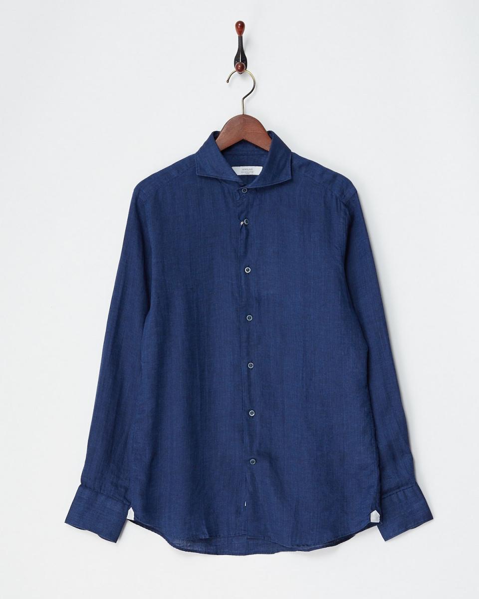 Angure / Deep Blue linen de la Baie-shirt