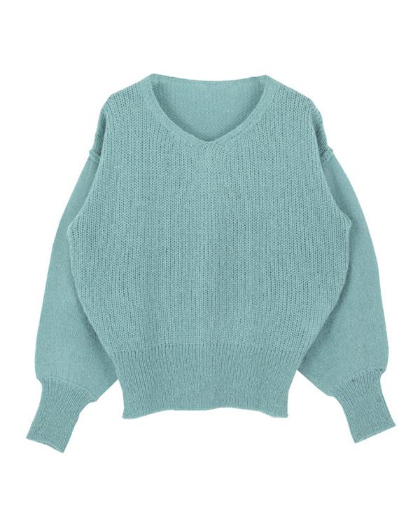 再找補一下/薄荷低規格卷袖針織○AQXP1634 /女裝