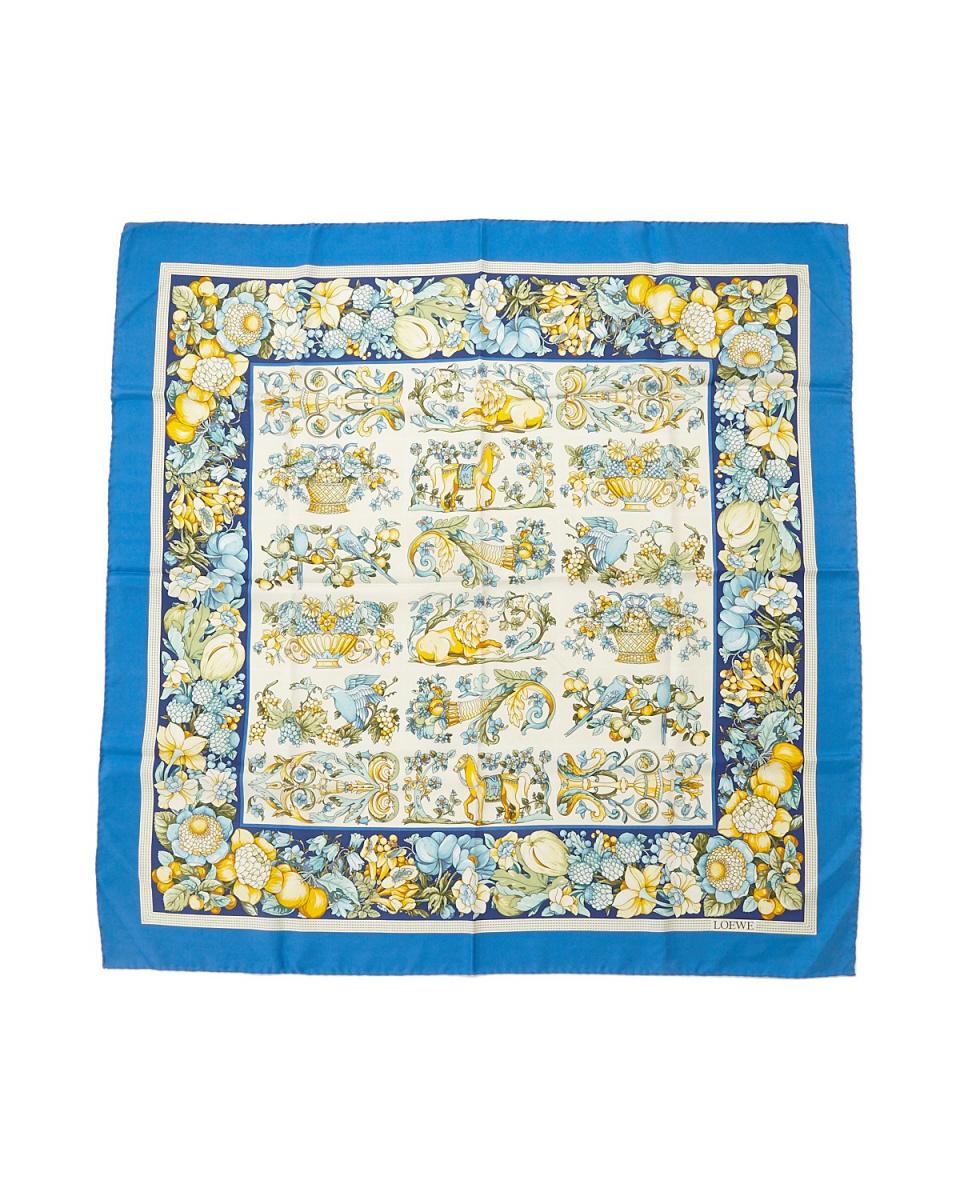Loewe / blue system bbb- Flower scarf
