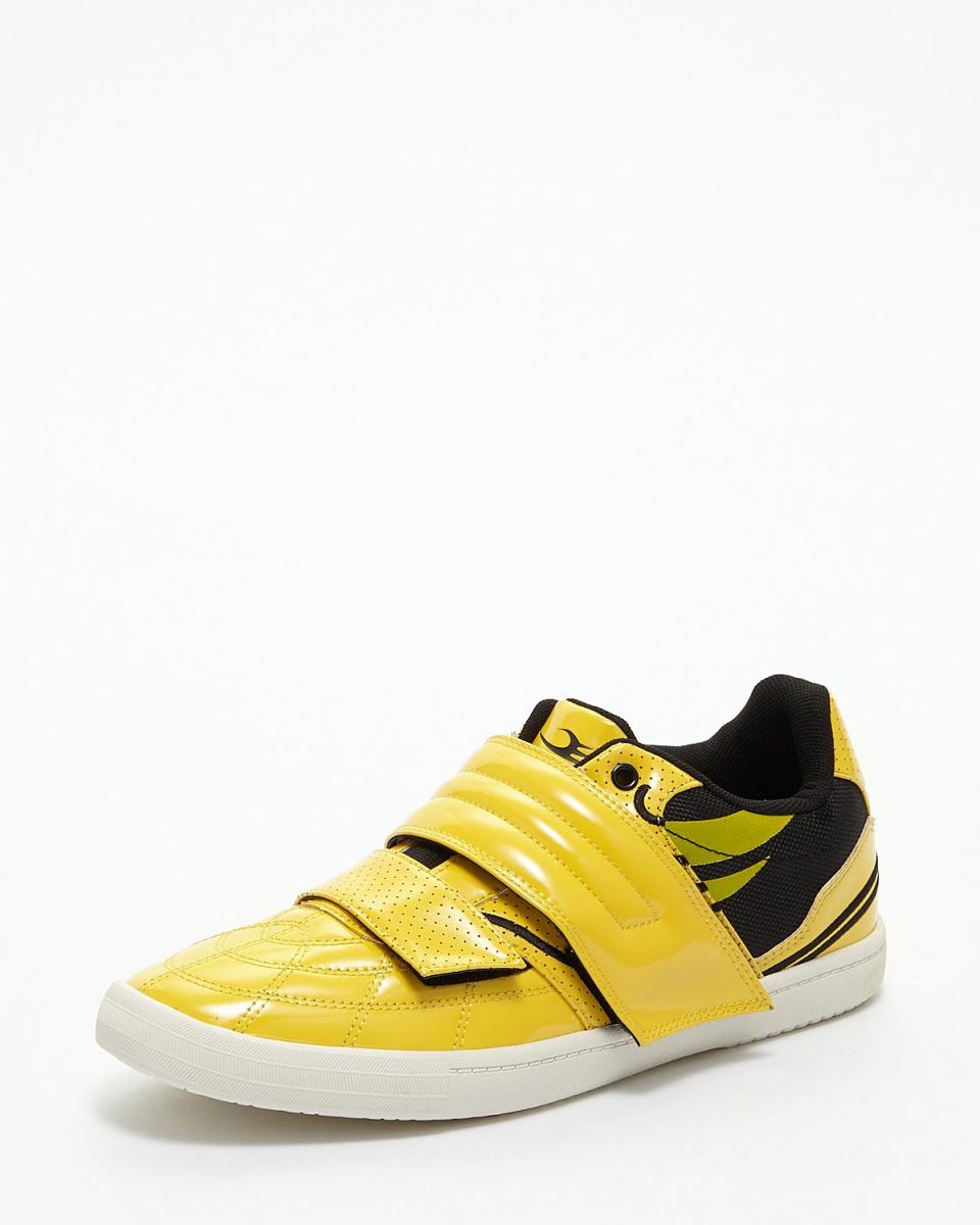 龙须/黄色/黑色双面搪瓷紧固件运动鞋/男