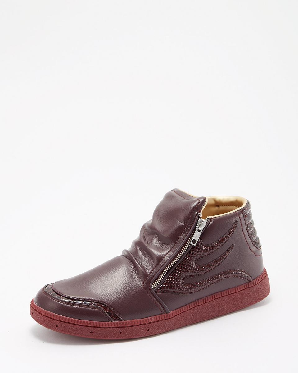 DRAGON BEARD / wine drape high-cut sneakers / Men