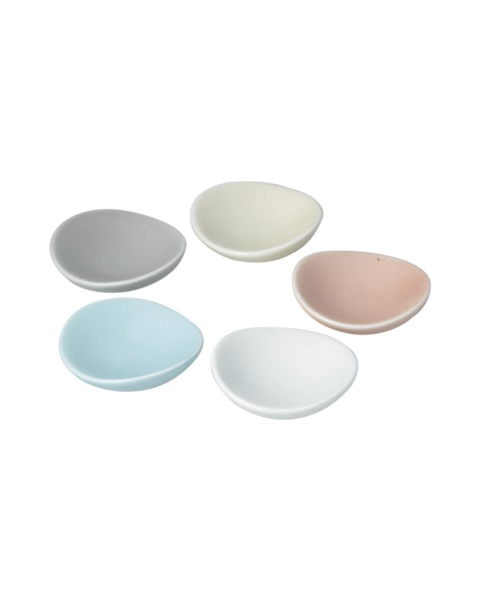 日式餐具/柔和的五种颜色圆筷置揃(总共五个套)○4965089862757