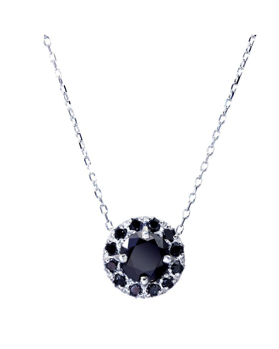 SELECTION_SEARS / Pt900 / Pt850Pt black diamond meter 0 5ct circle