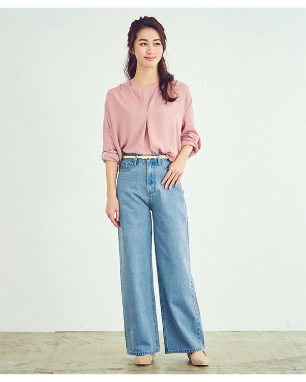 ur's / light blue high waist straight denim / Women's