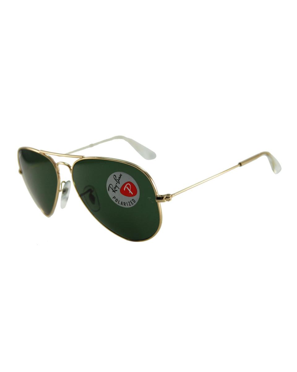 Ray-Ban / gold × dark green AVIATOR sunglasses ○ RB3025