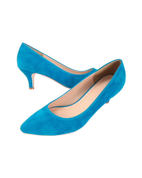 titivate / スウェード/ブルー 6cmヒールポインテッドトゥパンプス / ウィメンズ