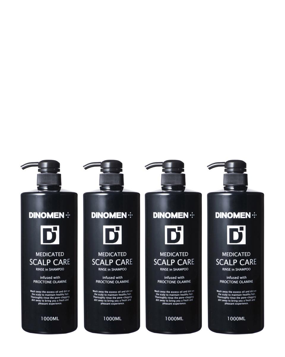 DiNOMEN / medicated Scalp care shampoo 1000mL × 4 pieces ○ 4941993600081/4941993600081/4941993600081/4941993600081