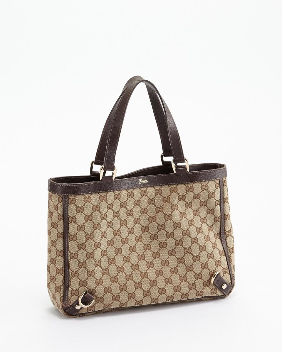 Gucci / Brown GG canvas tote bag