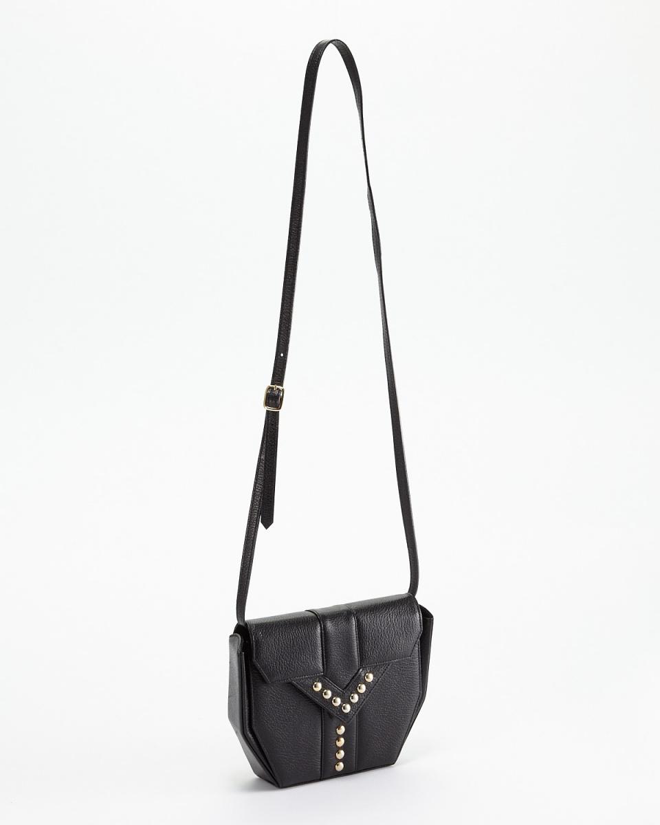 YSL / Black Y Studded leather shoulder bag