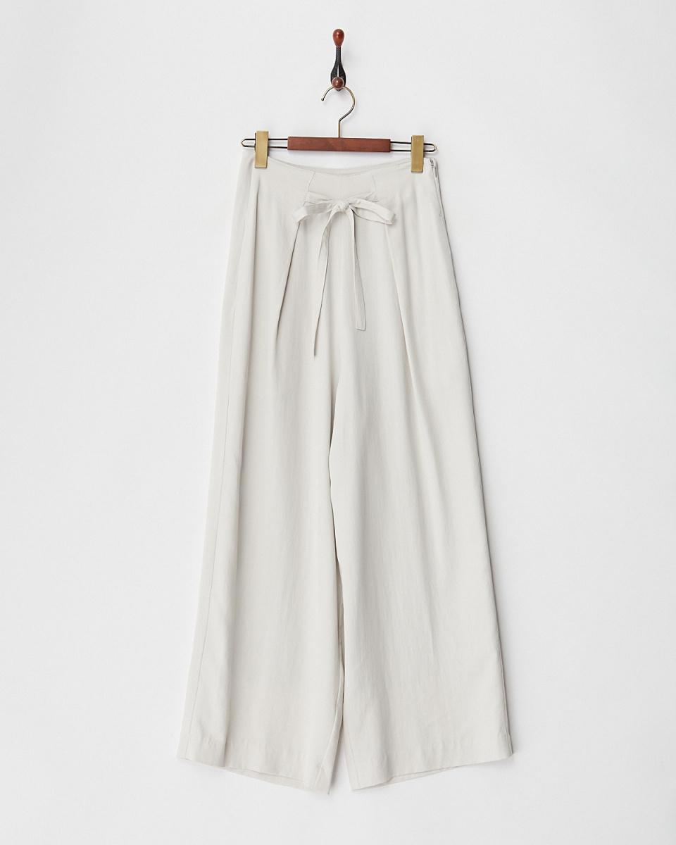 KAMILi /象牙鼴鼠SKIN BIO FRONT RIBBON褲/女裝