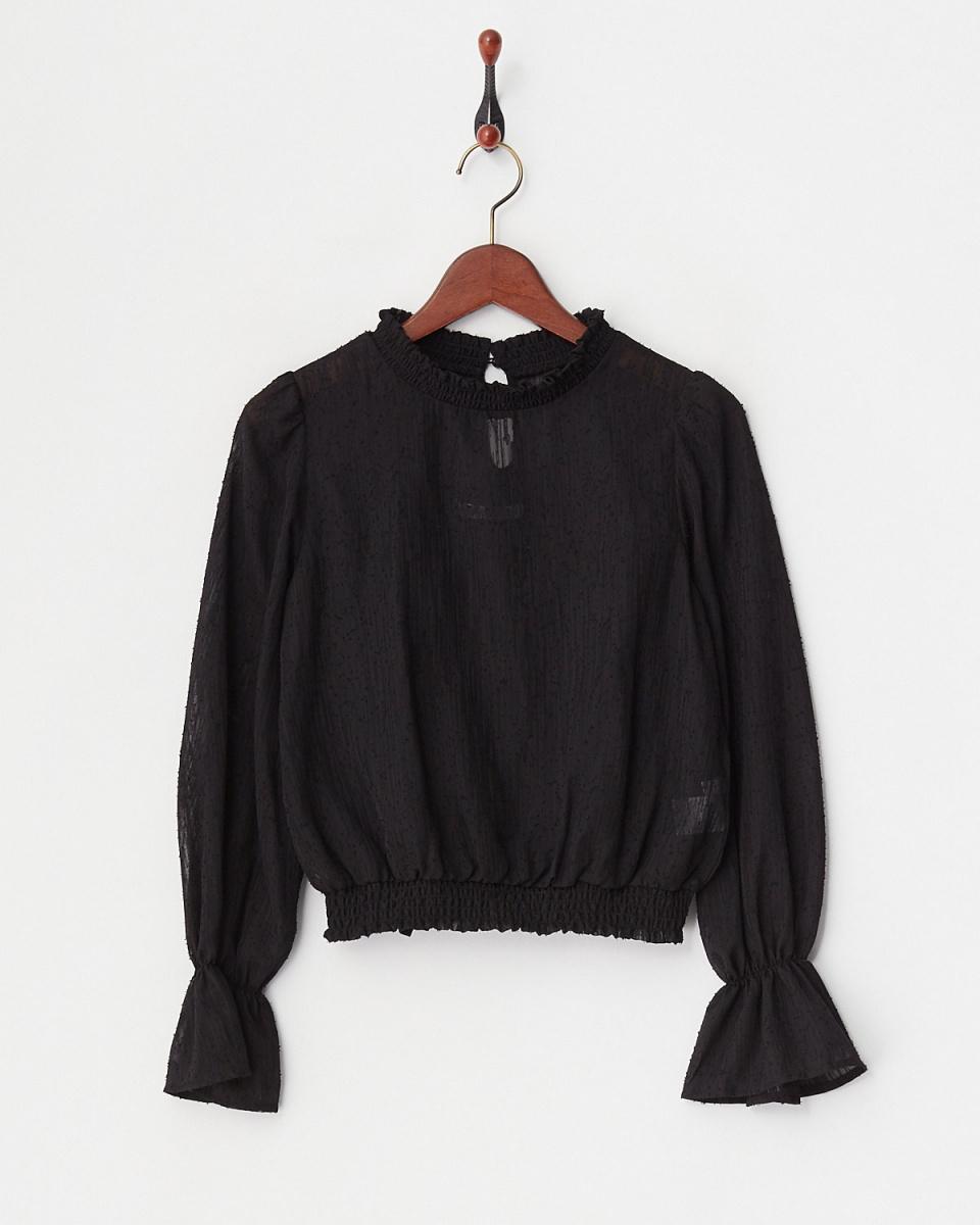ARCHIVES / BLACK Dobby blouse cami set / Women's