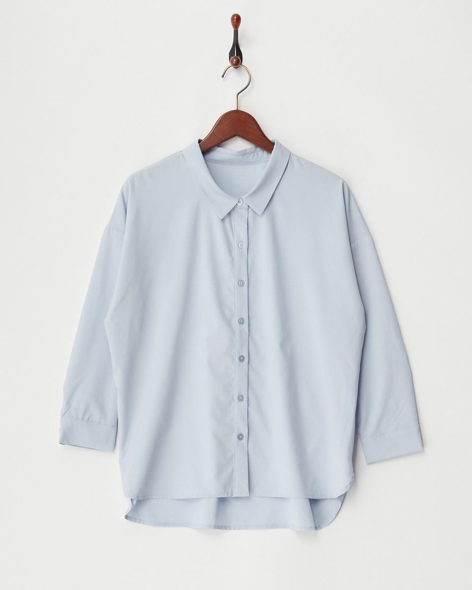 二十三/蓝色宽轮廓上衣○543-50384 /女装