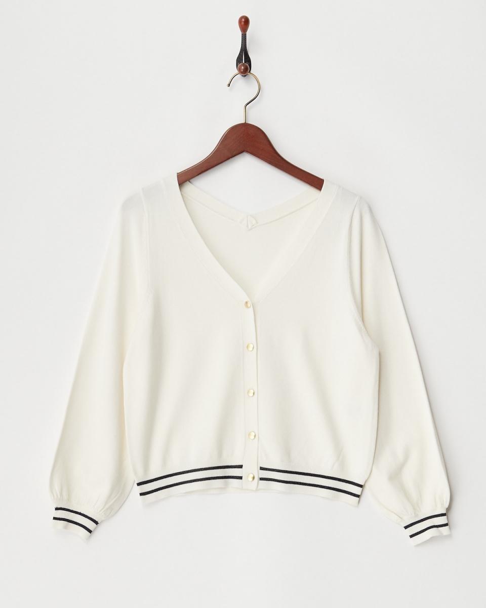 Twenty Three / offline containing V-neck cardigan ○ 154-21645 / Women's
