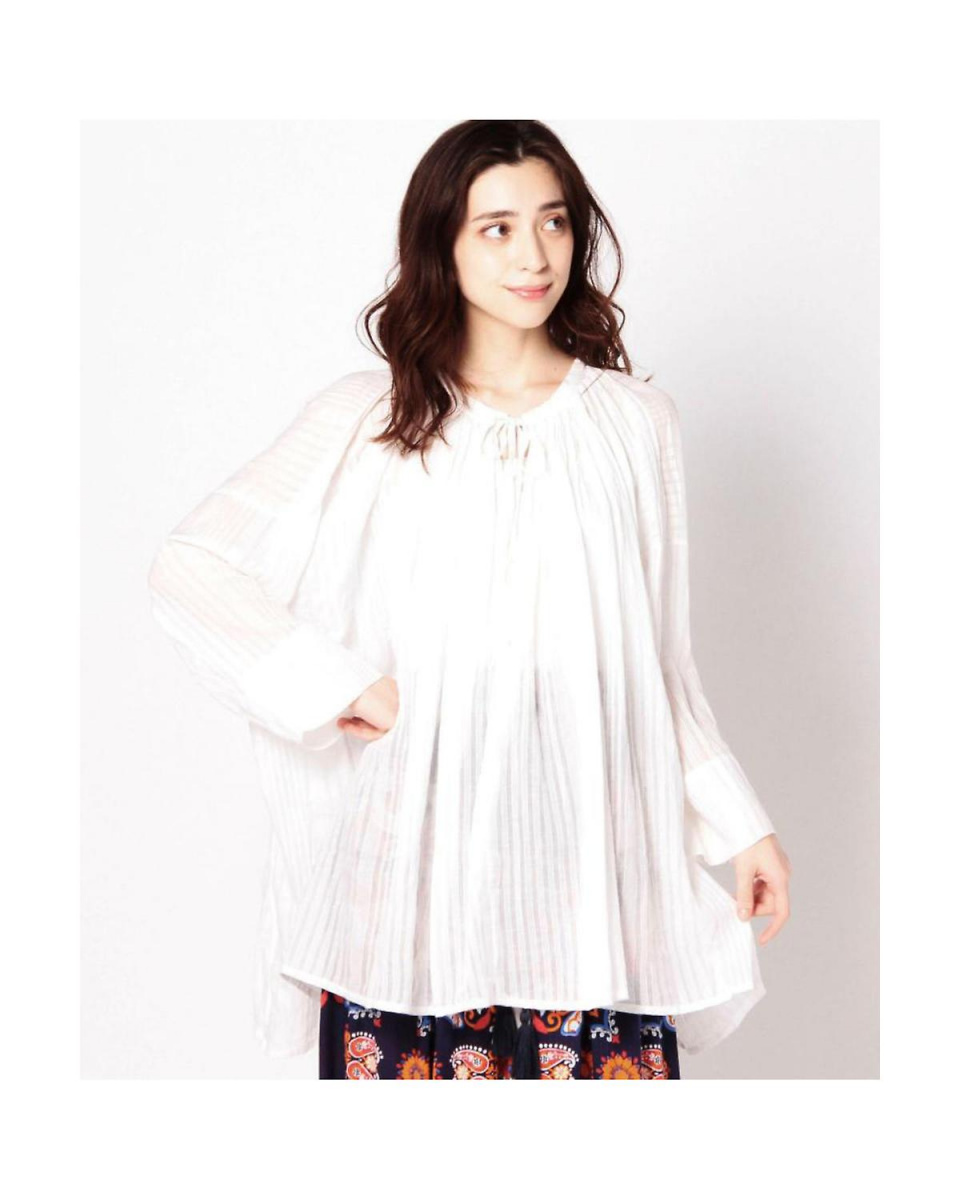 R / B (buying) / WHITE striped tunic R / B (buying) ○ 6016110198 / Women's