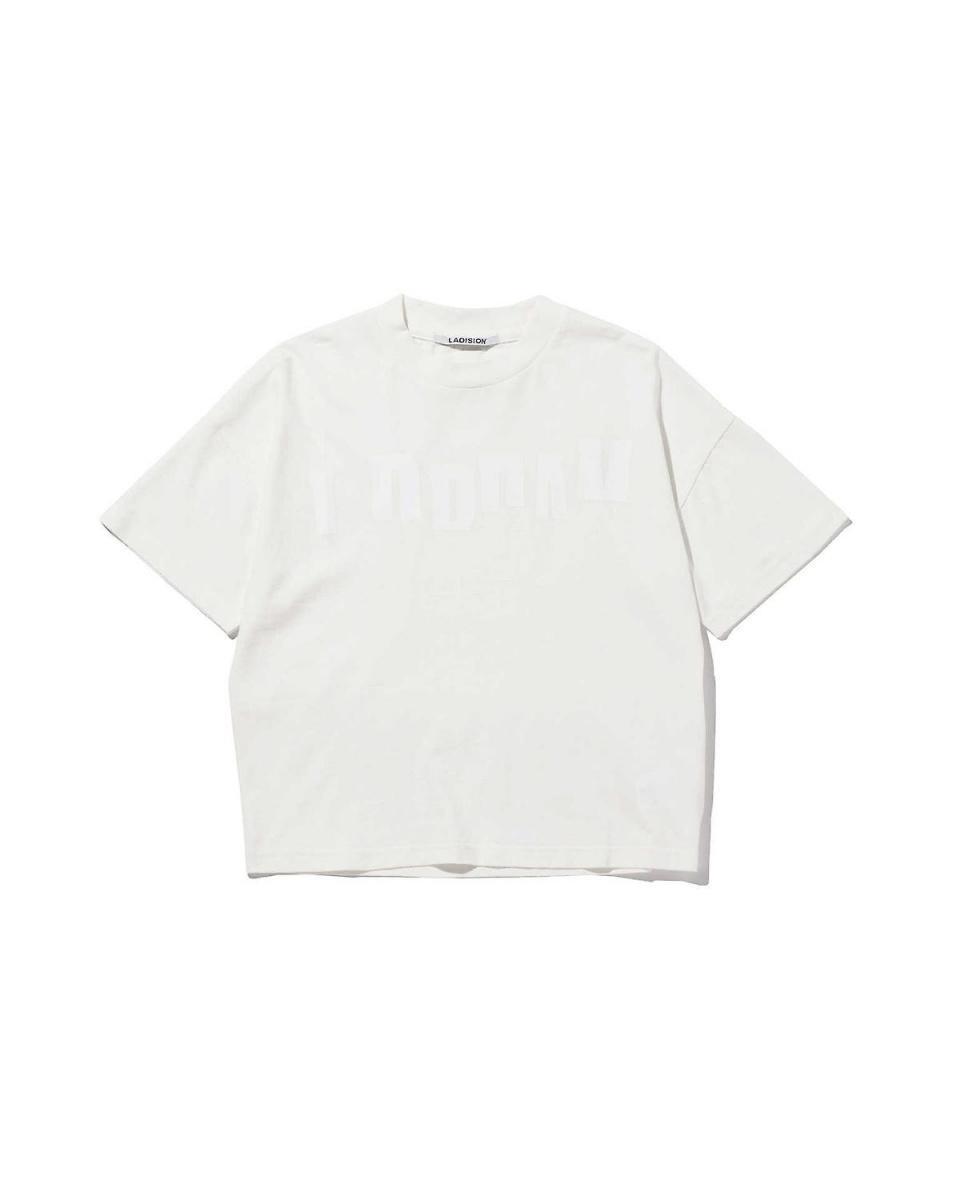 R / B (buying) / 1 IVO / WHT2 logo print T-shirt R / B (buying) ○ 6016113412 / Women's