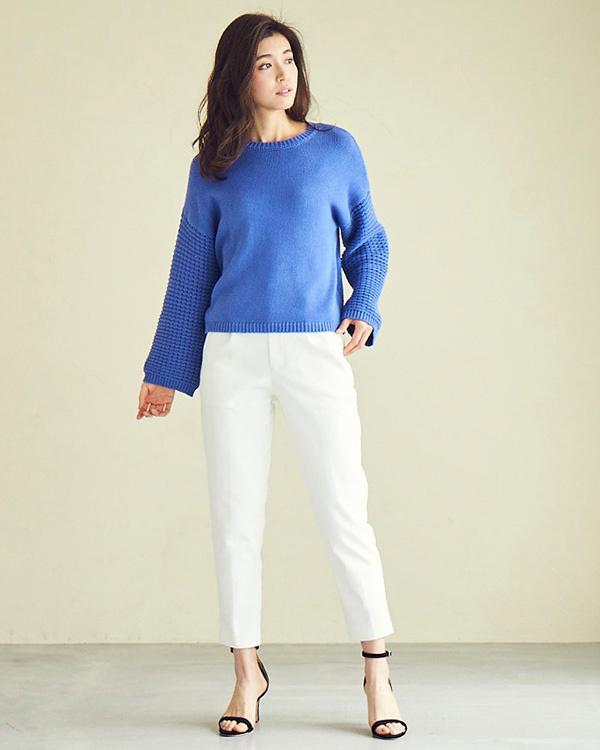 UR的/白色褶锥形裤/女装