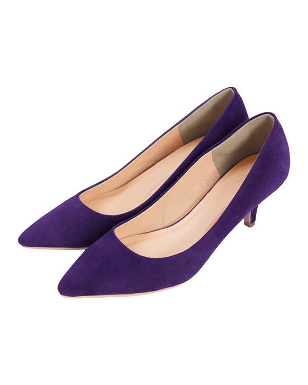 ur's / suede / purple 6cm heel Pointed Toe Pumps / Women's