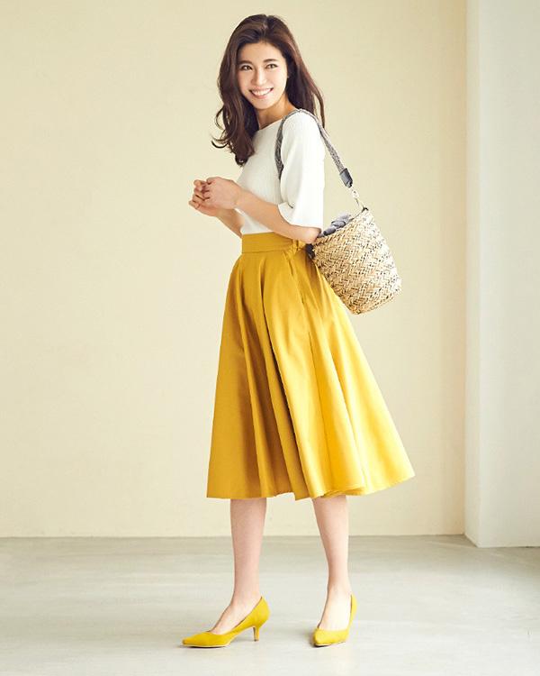 ur's / mustard circular skirt / Women's