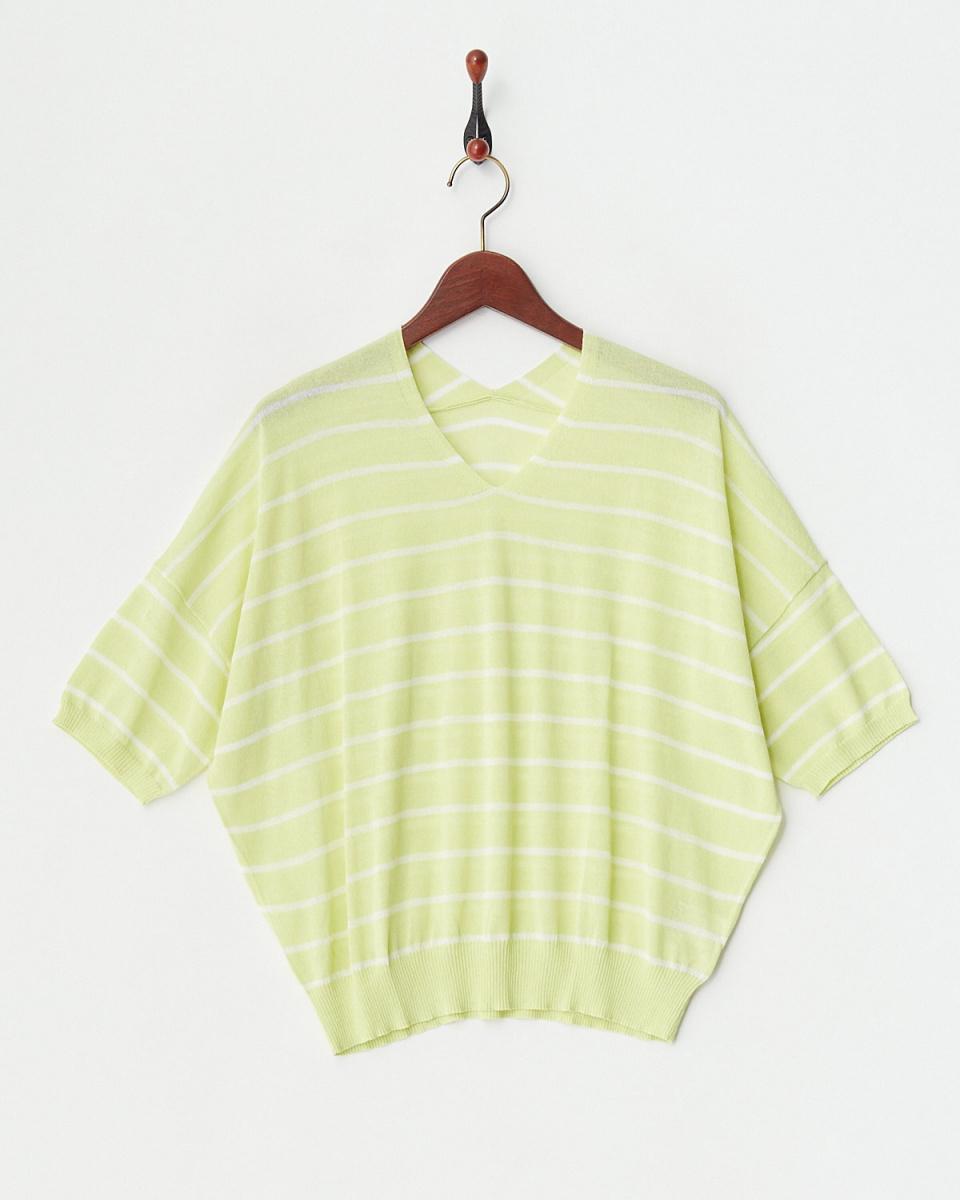 vingtrois /黃色防紫外線COOLING蝙蝠針織衫/女裝