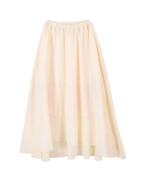 再找補一下/象牙蠟黃不規則下擺長裙○ARXP1547 /女裝