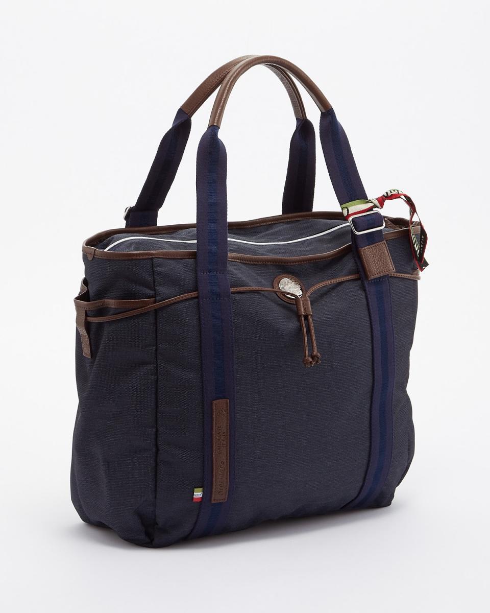 OROBIANCO / NYLON-JEANS-DARK-14 - DOLLARO-SOFT-TABACCO-08ARINNA-C 01 tote bag ○ ARINNA-C 01